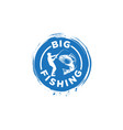 big fishing logo vector image vector image