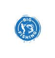 big fishing logo vector image