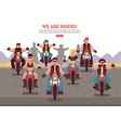bikers background vector image vector image