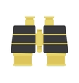 Binocular - gold icon vector image
