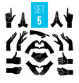 black hands gestures vector image