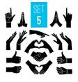 black hands gestures vector image vector image