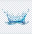 blue water splash vector image vector image