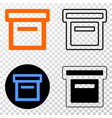 box eps icon with contour version vector image