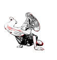 breakdancer vector image