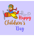 cartoon style childrens day collection vector image vector image