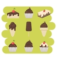 Chocolate sweets icons vector image vector image