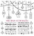 Christmas garland brushesballs set vector image vector image