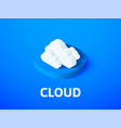 cloud isometric icon isolated on color background vector image vector image