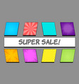 comic bright banners composition vector image vector image
