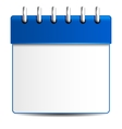 Detailed beautiful calendar icon vector image