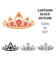 diadem icon in cartoon style isolated on white vector image