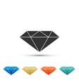 diamond sign isolated jewelry symbol gem stone vector image