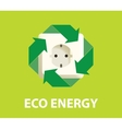 eco green energy electricity renewable concept vector image vector image