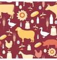Farming seamless pattern vector image vector image