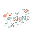 Flat Style Thin Line Banner design of Vision vector image vector image