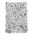 Floral pattern sketch for your design vector image vector image