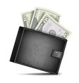 full wallet black color classic modern vector image vector image