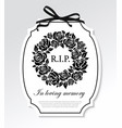 funeral frame with black flowers round wreath vector image vector image