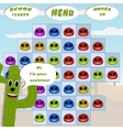 gaming locations funny logic cactus desert vector image