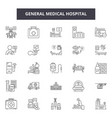 general medical hospital line icons signs vector image vector image