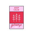 glamping logo adventure camp emblem vector image