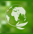 green planet and leaves vector image vector image
