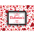 happy valentine day background good design vector image vector image