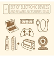Icons set of electronic devices vector image