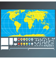 Infographics Global Map Design vector image