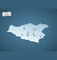 isometric 3d bolivia map concept vector image