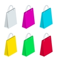 Isometric Paper Shopping Bags collection isolated vector image vector image