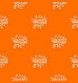 kaboom explosion pattern seamless vector image vector image