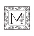 letter alphabet with vintage style frame