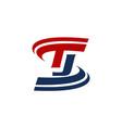 letter t j vector image
