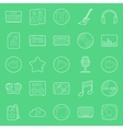 Music and audio thin lines icons set vector image vector image