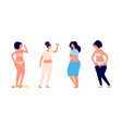 obese women sad depressed overweight girls food vector image vector image