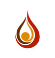 oil drop flames symbol design vector image
