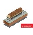 Open rail car for transportation of bulk cargoes vector image vector image