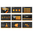 orange black abstract presentation templates vector image vector image