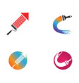 paint logo template icon vector image