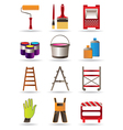 Painting and construction tools vector | Price: 3 Credits (USD $3)