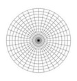 polar grid of 10 concentric circles and 10 degrees vector image vector image