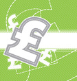 pound money icon background vector image