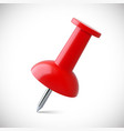 red push pin isolated vector image vector image