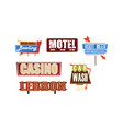 retro signs and pointers collection vintage vector image