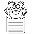schedule of the day cartoon bear vector image vector image