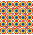 seamless pattern of bright discs with serrated vector image vector image