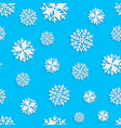 Seamless snowflakes background for winter