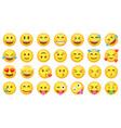 set cute yellow emoji icons vector image